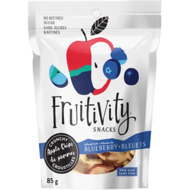 Fruitivity Snacks Crunchy Apple Chips Blueberry
