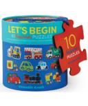 Crocodile Creek Let's Begin 10 Beginner 2-Piece Puzzles Vehicles