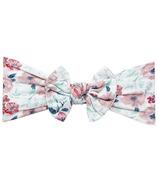 Baby Wisp Headband Nylon Bow Floral Garden
