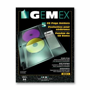 Gemex CD/DVD Page Holders