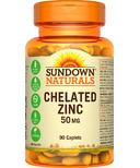 Sundown Naturals Chelated Zinc
