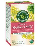 Thé au lait maternel biologique de Traditional Medicinals