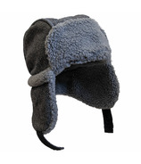 Calikids Wool Blend Hat Black & Grey Combo
