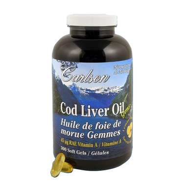 Carlson Cod Liver Oil Gems with Low Vitamin A