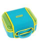 Nalgene Lunch Box Green with Blue Sleeve