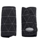 JJ Cole Reversible Black Tri-Stitch Strap Covers
