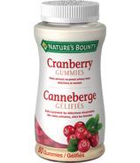 Nature's Bounty Cranberry Gummies
