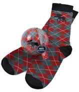 Little Blue House Men's Socks in Ornament Moose Argyle