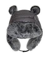 Calikids Waterproof Nylon Puffer Hat Bear Grey