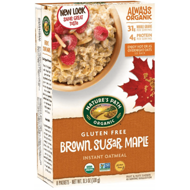 Nature\'s Path Organic Brown Sugar Maple Instant Oatmeal