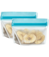 (re)zip Stand-Up 4oz Reusable Snack Bags Aqua