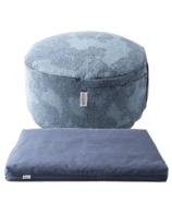 B Yoga Royal Suede Zabuton & Mod Cushion Sit Set Bundle
