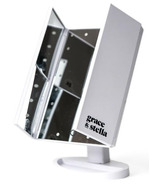 Grace & Stella Co. LED Trifold Vanity Mirror