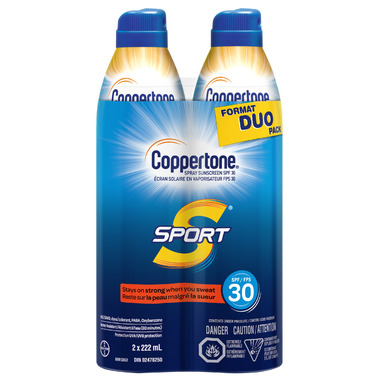 Coppertone Sport Continuous Sunscreen Spray SPF 30 Duo Pack