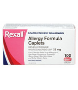 Rexall Allergy Relief Caplets 25mg Diphenhydramine