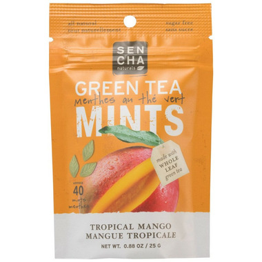 Sencha Naturals Sugar Free Green Tea Mints Tropical Mango