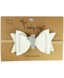 Baby Wisp First Birthday Headband White Glitter
