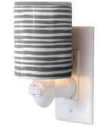Happy Wax Outlet Plug In Warmer Gray Stripe Print