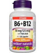 Webber Naturals Vitamin B6, B12 & Folic Acid Bonus Size