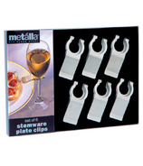 Prodyne Stemware Stainless Steel Plate Clips