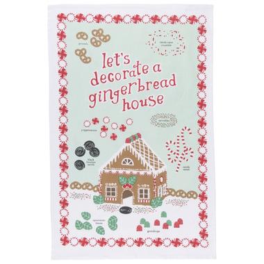 Now Designs Gingerbread House Dishtowel