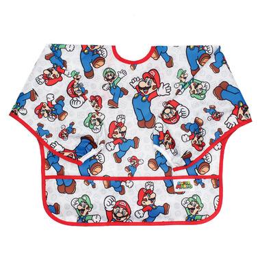 Bumkins Nintendo Sleeved Bib Super Mario and Luigi