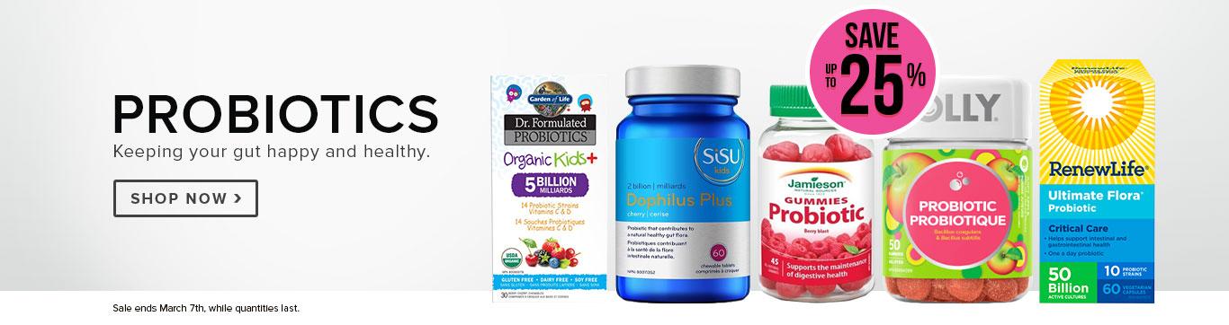 Save up to 25% on Probiotics