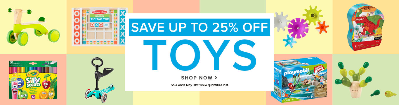 Save up to 25% on Toys