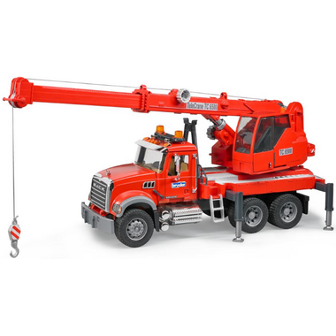 Bruder Toys Construction Mack Granite Crane with Light & Sound