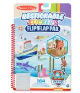 Melissa & Doug Paw Patrol Autocollants Recollables Flip Flap Pad