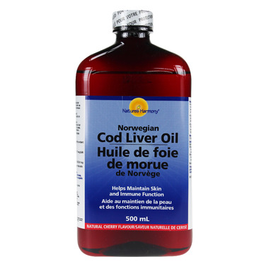 Nature\'s Harmony Norwegian Cod Liver Oil Cherry Flavour