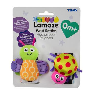 Lamaze High Contrast Wrist Rattles