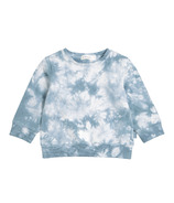 Miles Baby Long Sleeve Knit Top Blue Tie Dye