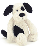 Jellycat Bashful Puppy Black & Cream