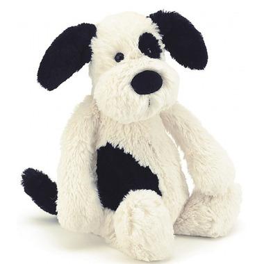 Jellycat Bashful Puppy Black & Cream