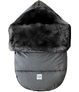 7 A.M. Enfant couverture évolutive 212 gris foncé, garniture noir tundra