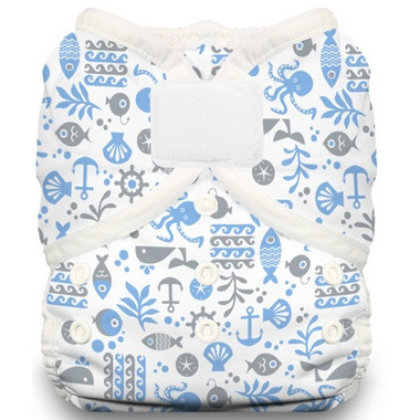 Thirsties Duo Wrap Hook & Loop Diaper Ocean Life