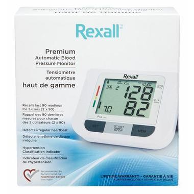 Rexall Premium Automatic Blood Pressure Monitor