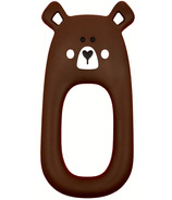 Little Cheeks Bear Silicone Teether Brown