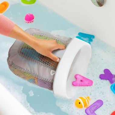 Munchkin Super Scoop Bath Toy Organizer Grey
