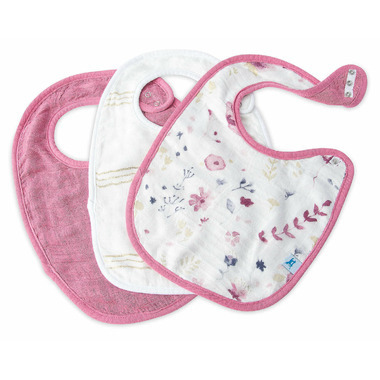 Little Unicorn Deluxe Muslin Classic Bib Set Fairy Garden