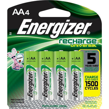 Energizer Recharge Universal Batteries AA