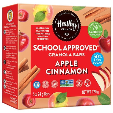 Healthy Crunch School Approved Granola Bars Apple Cinnamon