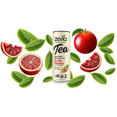 Zevia Organic Sweetened Earl Grey Tea Blood Orange