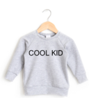 Posh & Cozy Crewneck Sweater Cool Kid Heather Grey 2T-4T