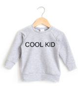Posh & Cozy Crewneck Sweater Cool Kid Heather Grey NB-1T