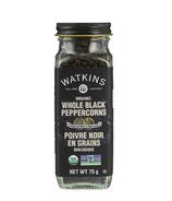 Watkins Organic Whole Black Peppercorns