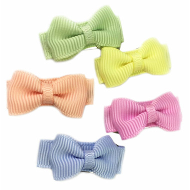 Baby Wisp 5 Tuxedo Bows Snap Flower Fields