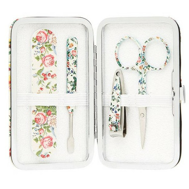 The Vintage Cosmetics Company Manicure Purse Floral