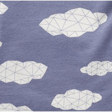 ZippyJamz Organic Cotton Sleeper Sleepy Clouds